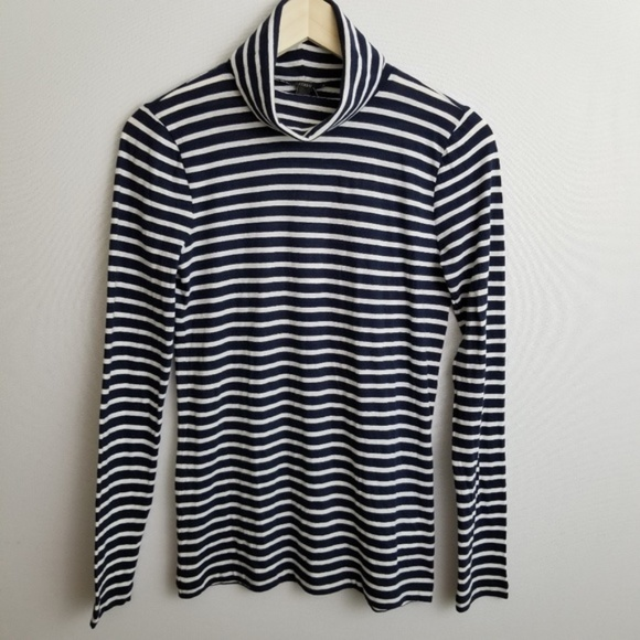 98c55877ad1 NWT J. Crew Perfect-Fit striped turtleneck shirt